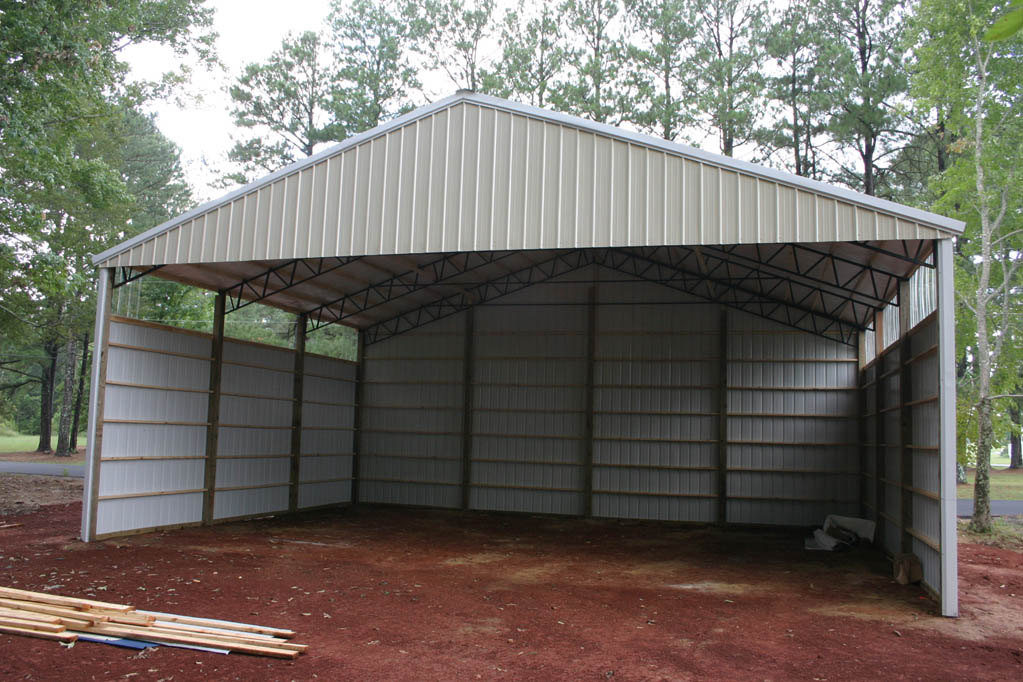 Open Sided Pole Barn Plans http://www.n56ml.com/hangar/
