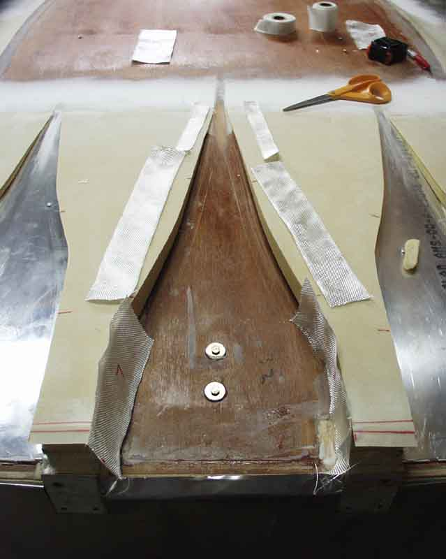 2 tape fiberglass was used to form the edges of the ducts for Naca duct template